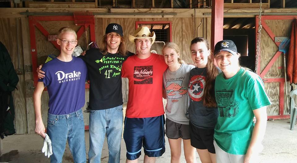 LSF volunteering at a Horse Ranch